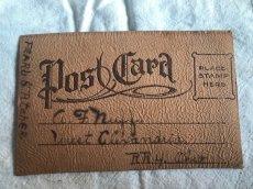 画像2: LEATHER POSTCARD 革のポストカード (2)