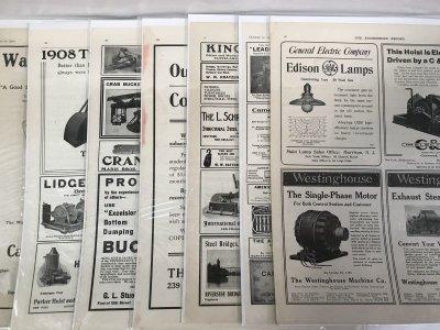 画像1: 1908-1910年工業系専門誌の広告