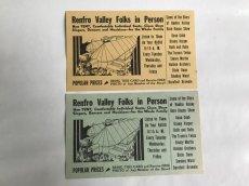 画像2: RENFRO VALLEY FOLKS IN PERSONフライヤー2枚セット (2)