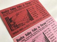 画像1: RENFRO VALLEY FOLKS IN PERSONフライヤー2枚セット (1)