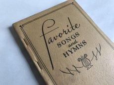 画像1: 1939年 FAVORITE SONGS AND HYMNS  賛美歌 アンティーク楽譜本 (1)