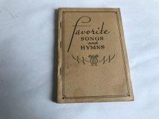 画像2: 1939年 FAVORITE SONGS AND HYMNS  賛美歌 アンティーク楽譜本 (2)