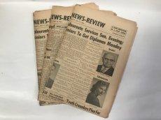 画像1: 英字新聞 1950年代アメリカ (1)