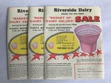 画像4: Riverside Dairy BASKET(3枚セット)チラシ広告 (4)