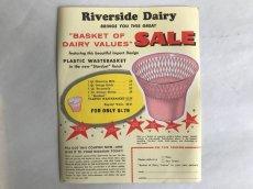 画像2: Riverside Dairy BASKET(3枚セット)チラシ広告 (2)