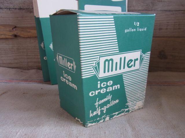画像1: Miller アイスクリーム 箱 パッケージ (1)