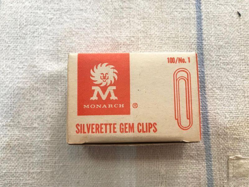 画像1:  MONARCH GEM CLIPS  ゼムクリップ (1)