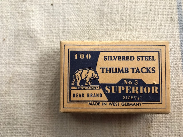 画像1: BEAR BRAND THUMB TACKS 画鋲 (1)