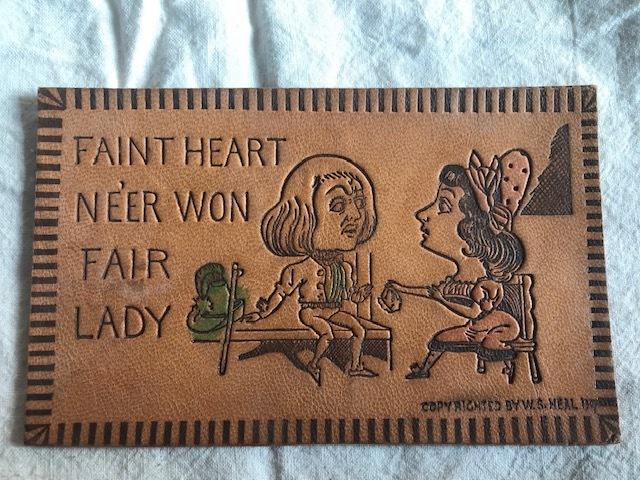 画像1: LEATHER POSTCARD 革のポストカード (1)