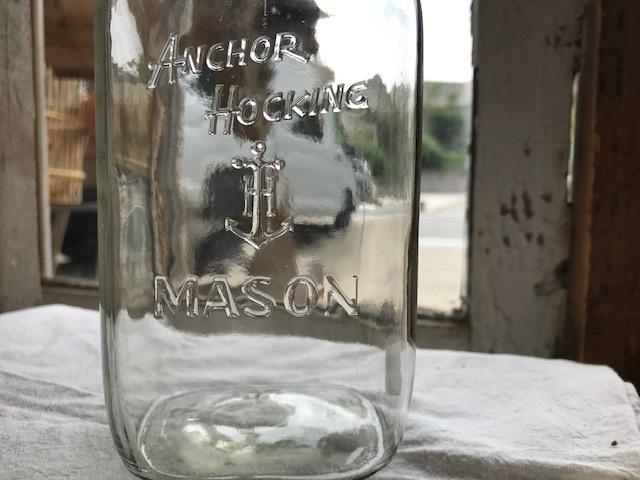 画像1: ANCHOR HOCKING MASON  (M) QUART (1)