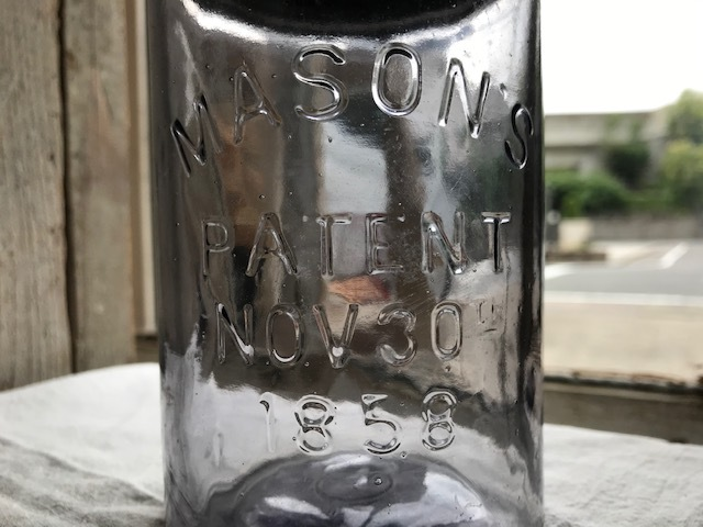 画像1: MASONS PATENT NOV 30TH 1858 アメジスト (S) PINT (1)
