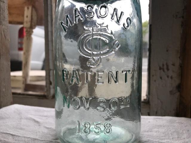 画像1: 1890年代 MASONS マーク PATENT NOV 30TH 1858   (M) QUART (1)