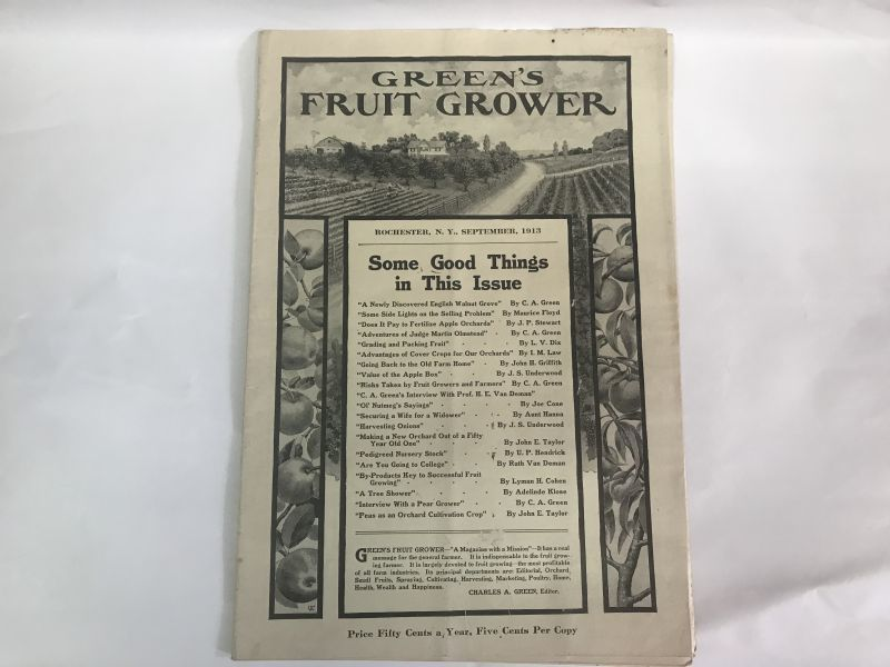 画像1: 1913年GREENS FRUIT GROWER 農業系雑誌 (1)