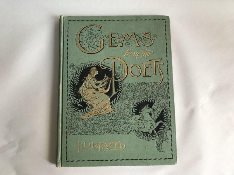 画像1: 1894年 アンティーク BOOK GEMS POETS (1)