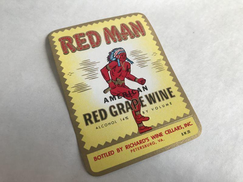 画像1: RED MAN ワインラベル (1枚) (1)
