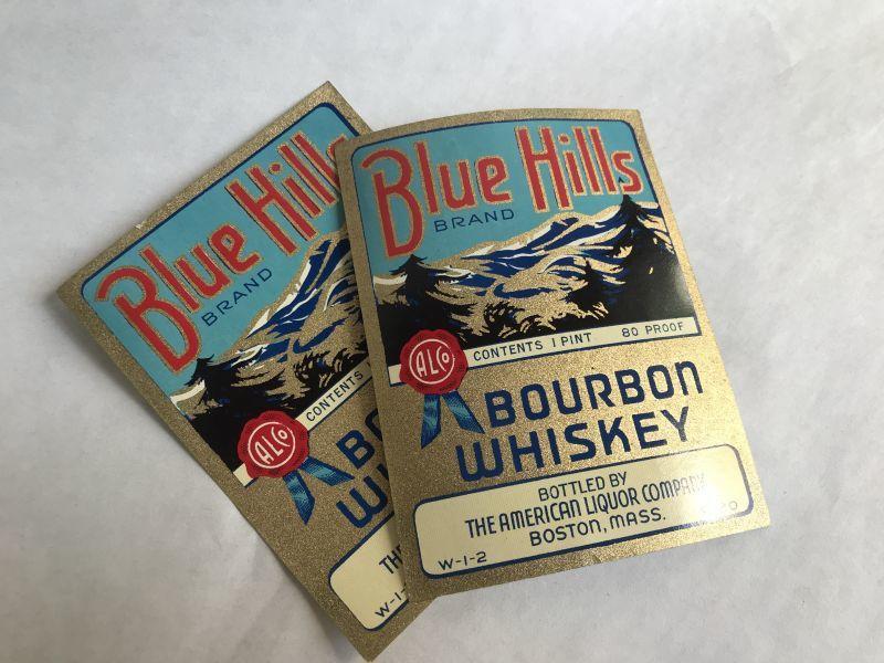 画像1: BLUE HILLS ウイスキーラベル (2枚セット) (1)