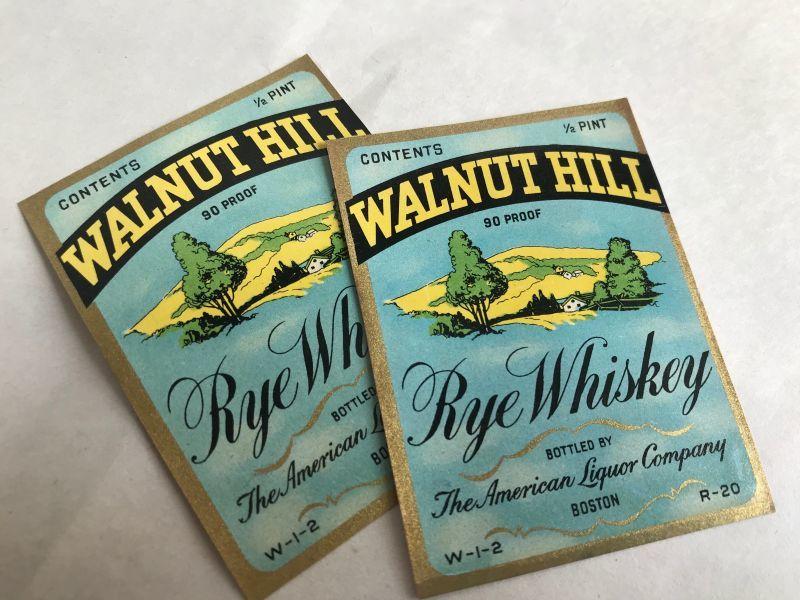 画像1: WALNUT HILL ウイスキーラベル(2枚セット) (1)