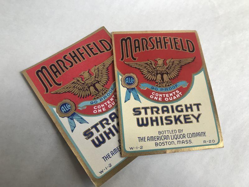 画像1: MARSHFIELD ウイスキーラベル (2枚セット) (1)