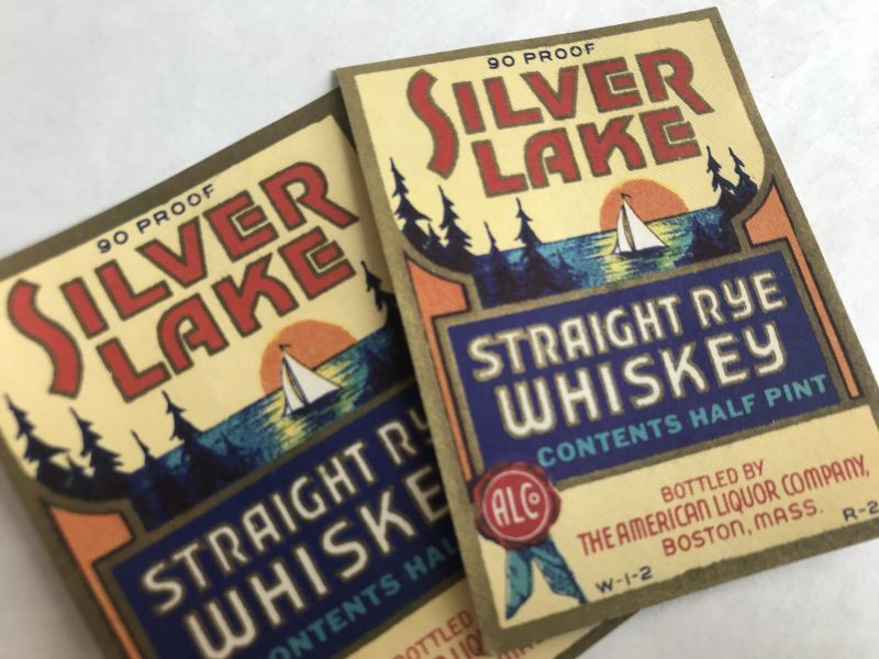 画像1: SILVER LAKE ウイスキーラベル(2枚セット) (1)