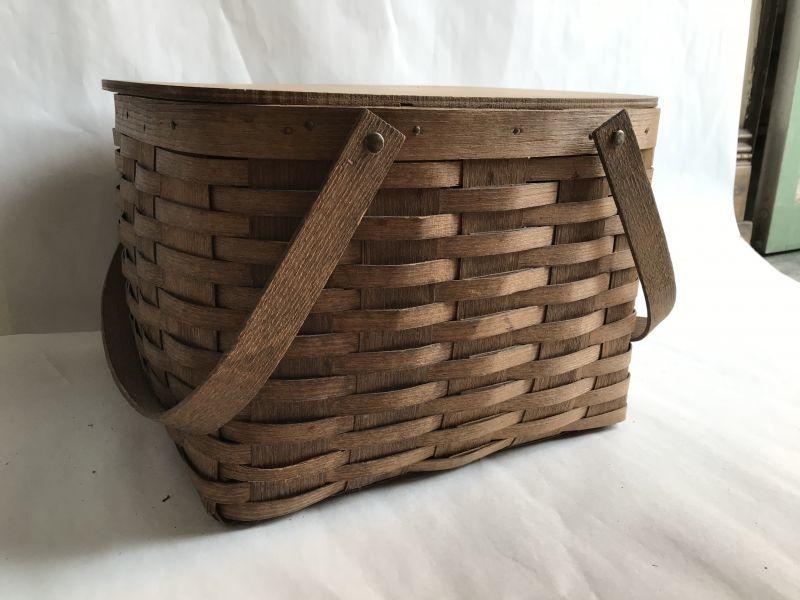 画像1: ビンテージ ピクニックバスケット (1)