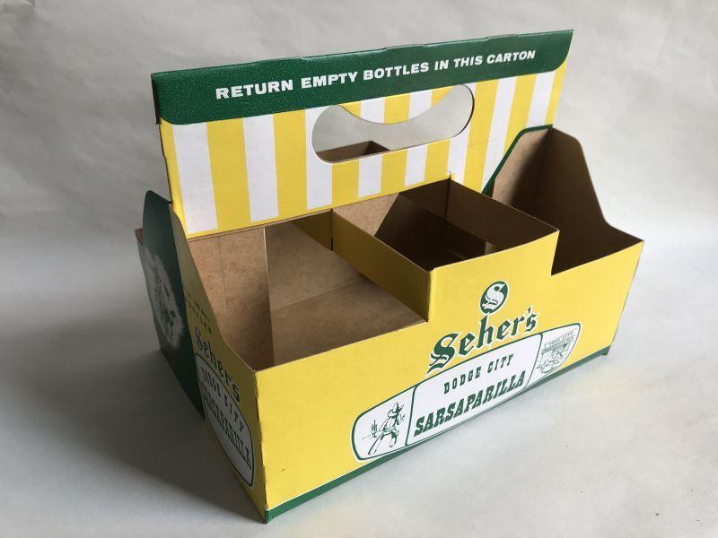 画像1: SEHER'S 組み立て式紙ボトルケース (1)