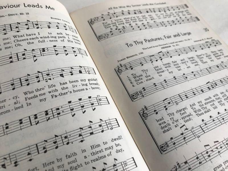 画像1: 1958年  CRUSADE FOR CHRIST SONGS アーミッシュ賛美歌 アンティーク楽譜本 (1)