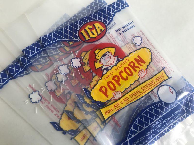 画像1: IGA POPCORNビニール袋5枚セット (S) (1)