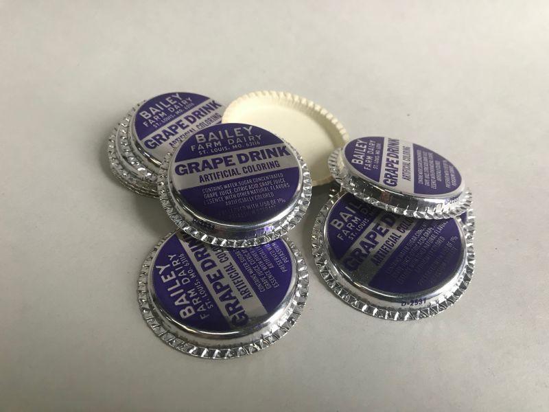 画像1: ミルクキャップ10枚セット アルミ箔  (1)