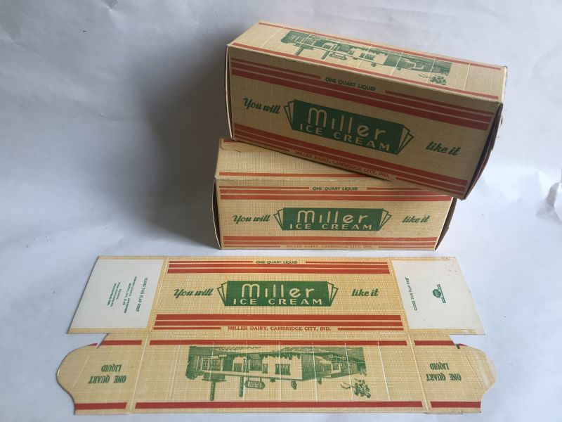 画像1: miller ICE CREAM BOX ロウ紙箱 (1)
