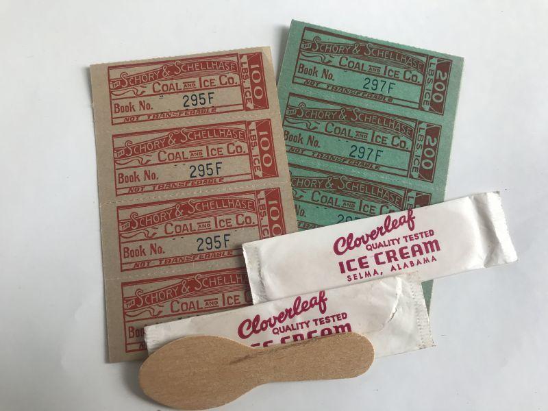 画像1: アイスチケットとスプーンのセット (1)