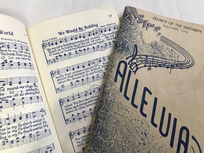 画像1: ALLELUIA CHURCH OF THE BRETHREN 賛美歌 ハンディ楽譜 (1)