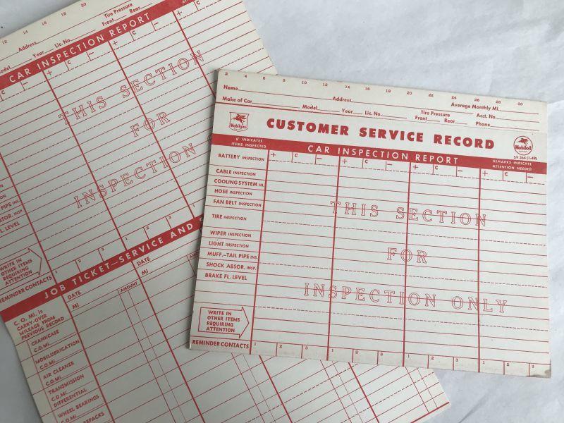 画像1: MobiloilマークのCUSTOMER SERVICE RECORD (1)