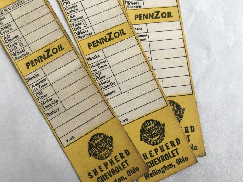 画像1: PENNZOIL CHEVOROLET サービスチケット3枚セット (1)