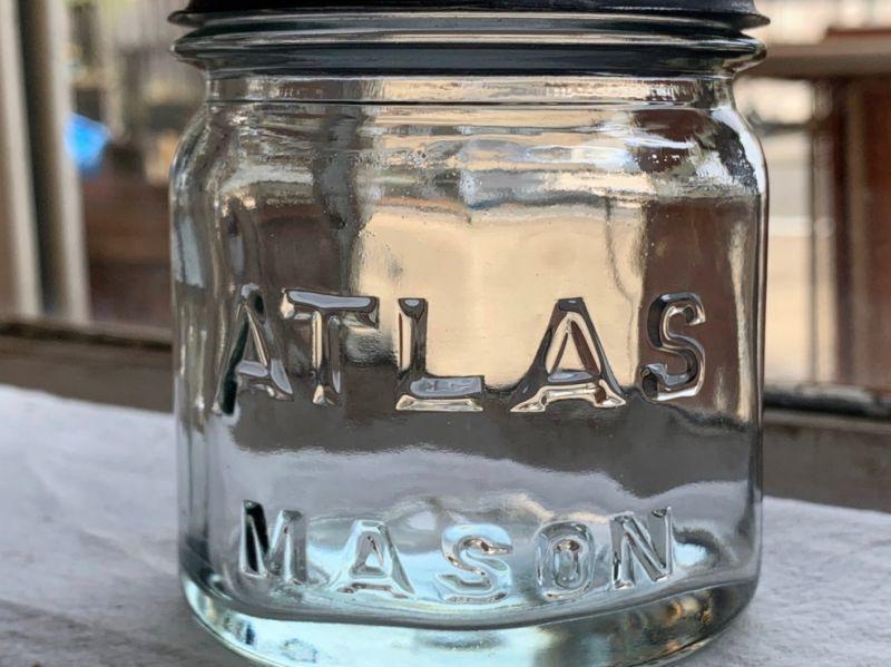 画像1: ATLAS MASON クリア (SS) HALF PINT (1)