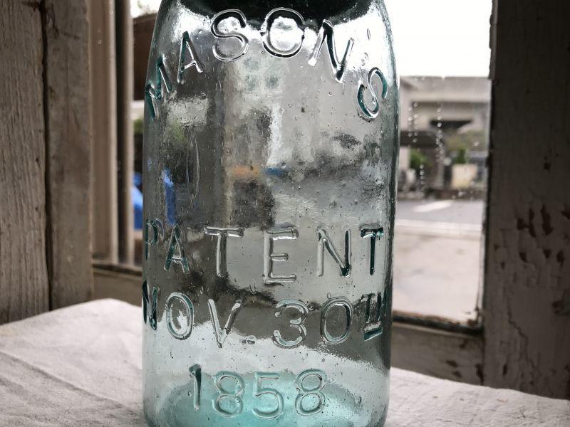 画像1: MASON'S  PATENT  NOV.30TH  1858  (M)QUART (1)