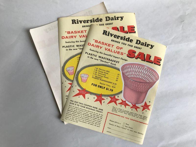 画像1: Riverside Dairy BASKET(3枚セット)チラシ広告 (1)