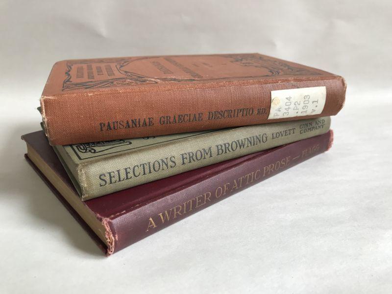 画像1:  アンティークブック3冊SET(横置き) 洋書/古書 (1)