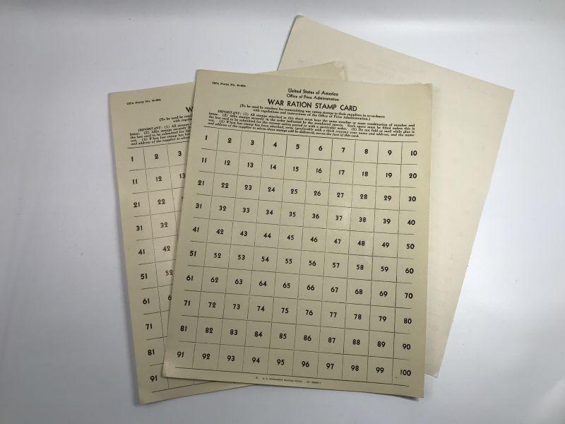 画像1: 1940年代 世界大戦時  WAR RATION STAMP CARD スタンプシート (1)