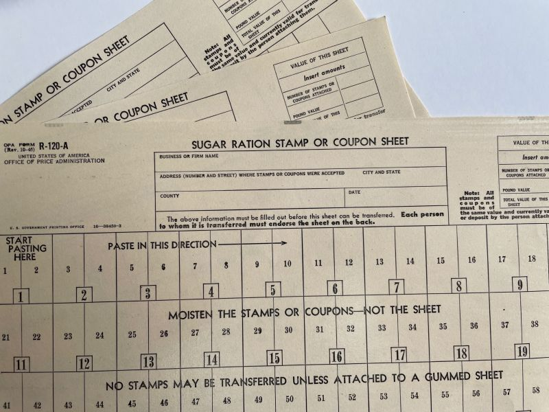 画像1: SUGAR シュガー RATION STAMP CARD スタンプシート (1)
